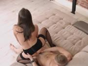Raunchy pussy licking session