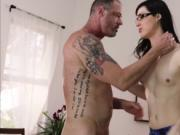 Slender Tgirl Stefani loves make up sex with her hunk p