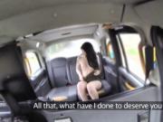 Hottie and slutty brunette teen Alessa rewards the Driv