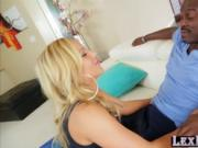 Voluptuous blonde Olivia Austin gets hammered by Lexing
