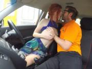 Pervert instructor fucks petite redhead to pass her les