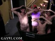 Gay sex mpeg Pledges in saran wrap, bobbing for dildos,