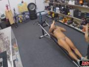 Lovely gym instructor getting fucked