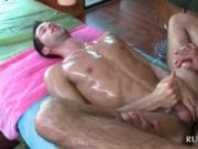 Hot stud getting cock blown after a great body massage