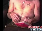 Amateur dude Darryll masturbates and sucks huge hard co