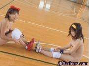 Amateur Japanese teens exposed playing ball 3 by JPflas