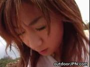 Aki Katase Hot Japanese model fucks outdoors 2 by outdo