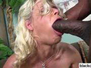 Black monster cock fucks blonde bitch