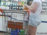 Teen At The Grocery Store