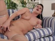 Czech MILF Celine Noiret deep throats