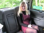 Blonde nailed horny taxi driver