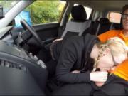 Pretty teen Satin Spank boned in the car