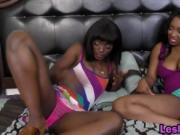 Fine Ass Black Bitches Share Intimate Lesbian Sex