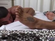 Latin boy toes gay Johnny Hazard Worshiped & Jerked In
