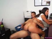 Victoria Valencia fucked by dads employee