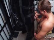 Gay fuck hunk Dungeon master with a gimp