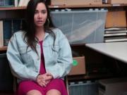 Karlee Greys ass bends over the desk