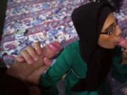 Big interracial teen anal Desperate Arab Woman Fucks Fo