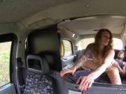 Big ass female cabbie bangs big black cock