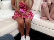 Slut babe Kayla Kayden shows her friends how to suck co