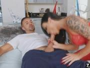 Dr. Melissa spread her legs wide open to take Keiran's