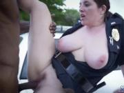 Blond public sex in a park and white fishnet dress We a