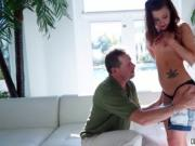 Alaina Dawson getting large hard dick to fuck