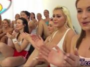 Blonde milf gets massage 40 ladies came over to party a