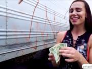 Incredibly hot babe Aidra Fox makes a public sex tape
