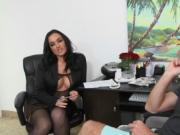 Massive cock bangs sexy MILF