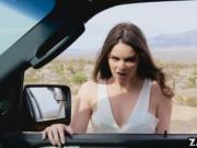 Jenna sucks tommy's hard cock outdoor