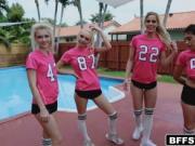 Teen girls tight pink pussies got banged