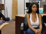 Busty ebony Brittney White takes Shawns cock for cash