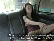Masked teen fucks in fake taxi