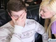 Blonde spinner Alex takes a huge hard dick