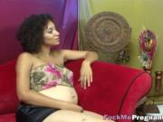 Pregnant ebony with huge body gets pussy licked and fin