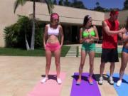 Gorgeous Yoga babe loves fucking hard dick