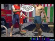 Muscular hentai gay man gets hot anal jerked