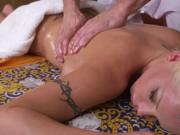 Huge tits blonde screws her masseur