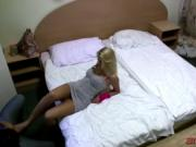 Big titted blonde slut fucked hard in the asshole in PO