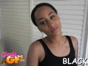 Black angel deepthroats her guy