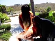 Busty pornstar Payton Sinclaire first heated interracia