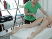 Sensual massage with cock riding