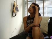 Gina Valentina suck her step bros cock