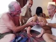 Brunette fucks old guy and old mom first anal Staycatio