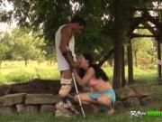Handicapped man gets lucky with sexy nurse and fucks he