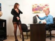 Natural huge tits secretary bangs her boss