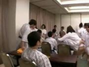 Subtitled Japanese pep talk followed by gargantuan orgy
