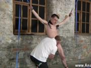 Gay porn Sean McKenzie is bound up and at the grace of