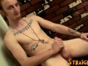 Long hair dude Billy Jerks his hard cock in front of ca